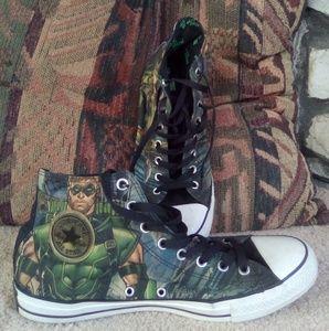 Converse Men's Green Arrow Printed Shoes